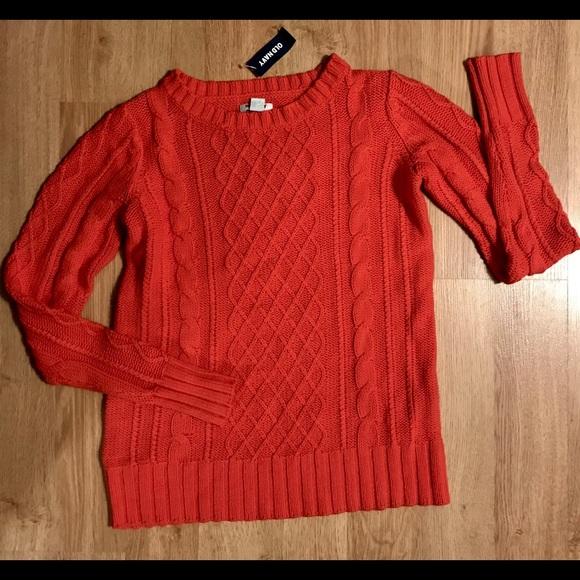 676505e367d NEW OLD NAVY Orange Cable Knit Sweater XS. M_5ba7fcf31b16db3a2577e761